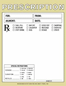 fake prescription pad template - nifty notes prescription pad office