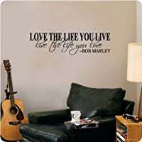 Bob Marley Quote Wall Decal Decor Love Life Words Large Nice Sticker Text by WV Signs & Decals