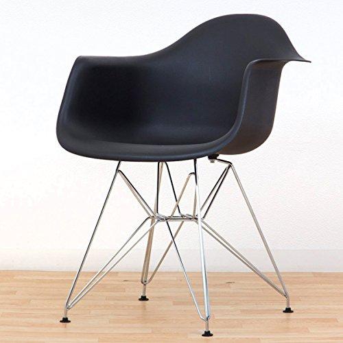 デザイナーズ椅子 Eamesアームシェルチェア イームズチェアー DAR エッフェルベース ブラック色