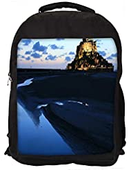 "Snoogg Palace Along The Beach Casual Laptop Backpak Fits All 15 - 15.6"" Inch Laptops"