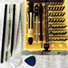 Deluxe 52 Different Screwdrivers & Spudgers DIY Repair Anything Electronic Tool Kit iPhone, Samsung Galaxy Note & Cell Phone: TriWing (TriPoint, Y), Torx Security, Triangle, Spanner, Hex, Phillips PH000, Probe