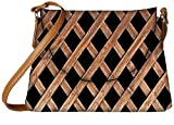 Snoogg Abstract Blocked Woods Designer Womens Carry Around Sling Bags