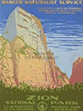 TRAVEL TOURISM ZION NATIONAL PARK UTAH USA VINTAGE ADVERTISING POSTER ART 2591PY