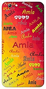 Amla (The Pure One) Name & Sign Printed All over customize & Personalized!! Protective back cover for your Smart Phone : Apple iPhone 7