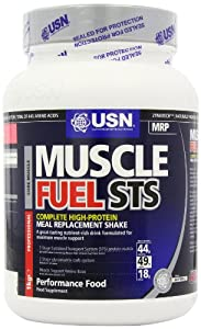 USN Muscle Fuel STS High Protein Meal Replacement Shake Powder, Strawberry - 1 kg