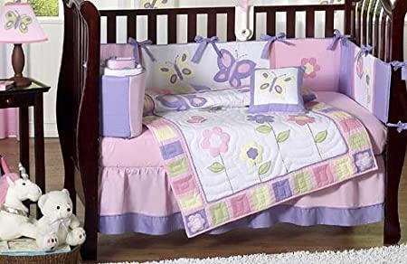 Pink and Purple Butterfly Baby Bedding