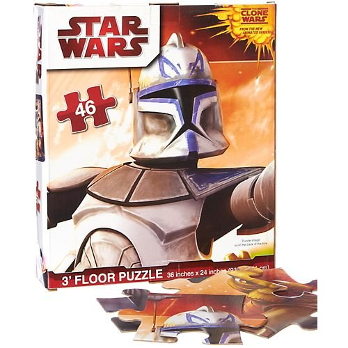 Cheap Fun Star Wars Clone Wars 46-pc. 3 Foot Floor Puzzle MULTI (B00487SM10)