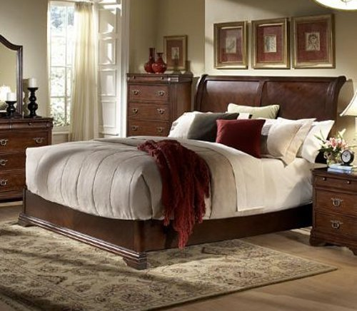 Greenfield Queen Bed Set (With Night Stand, Dresser, And Mirror) By Homelegance front-86099