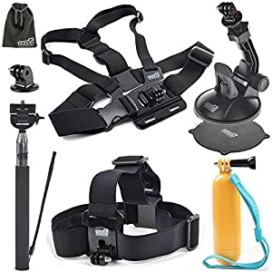 EEEKit for Canany WIFI Action Camera Full HD 1080P 12M 2.0inch waterproof diving Camera, Head Strap/Floaty Grip/Chest Harness/Suction Cup/Selfie Stick