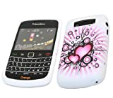 ITALKonline ProGel POWER OF LOVE WHITE BLACK PINK HEARTS Super Hydro Gel TPU Protective Armour/Case/Skin/Cover/Shell for BlackBerry 9700 Bold, 9780 Onyx