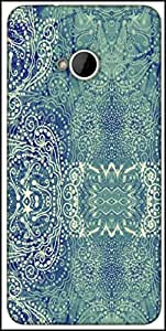 Snoogg Paisley Formation Designer Protective Back Case Cover For HTC M7