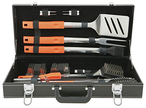 Mr. Bar-B-Q, Inc. 94006X 20-Piece Rubber Grip Set In Black Attache Case