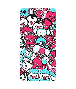 Pink And Blue Munchkins Huawei Ascend P7 Case