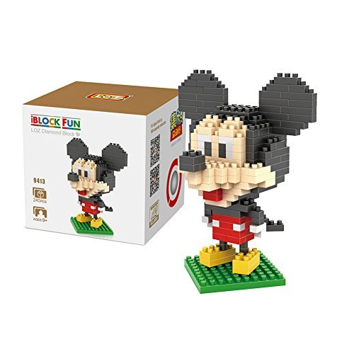 GRHOSE Micky Minnie Donald Duck Daisy Duck Goofy - Pack of 5 LOZ Nanoblock Disney Collection Total 1190pcs