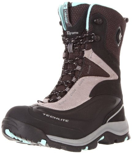 Columbia Women's Bugaboot Plus Electric Snow Boot,Black/Gulfstream,12 M US