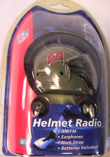 Tampa Bay Buccaneers NFL Football Helmet Radio AM/FM Earphone Ear Buds Riddell at Amazon.com