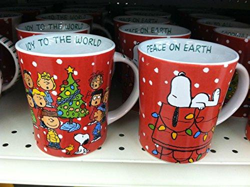 Snoopy & Charlie Brown ~ Christmas Mugs Set