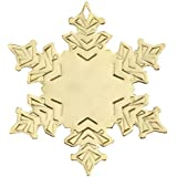 Golden Snow Flake Shape Holiday Ornament Trade Show Giveaway