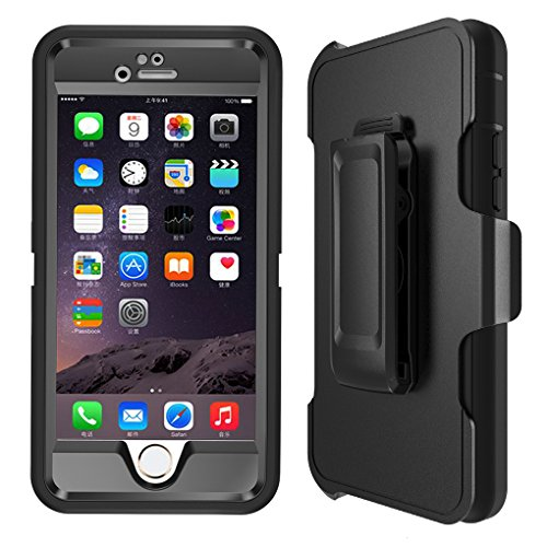 iPhone-6s-Case-Heavy-Duty-4-Layer-Built-in-Touchable-Screen-Protector-Dustproof-and-Shockproof-Hybrid-Hard-Shell-Cover-with-Belt-ClipKickstand-for-iPhone-6-and-iPhone-6s-Case-Black