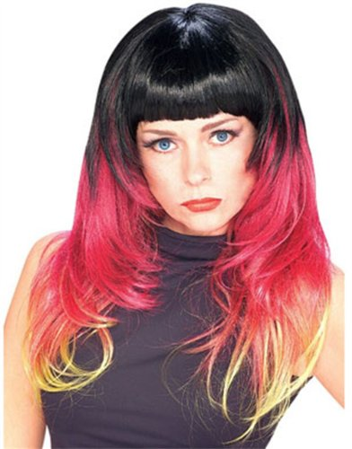 Rubie's Costume Tri Color Sunburst Wig, Multi, One Size