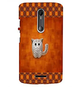 PrintDhaba Kitty D-2491 Back Case Cover for MOTOROLA MOTO X3 (Multi-Coloured)