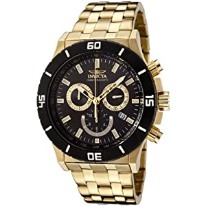 Invicta Men's 0392 II Collection Chronograph 18k Gold Plated Stainless Steel Watch