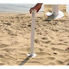 Buy Beach Umbrella Anchor - Sand Anchor Easily Twists In To Secure Umbrella - 26 Inches (Colors May Vary) by Sand Anchor