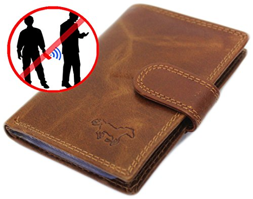 Safekeepers Porta carte di credito Marrone Cognac / Braun