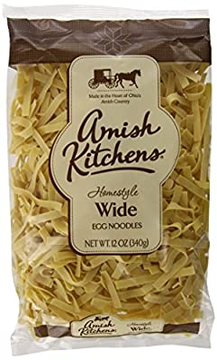 Amish Kitchen Noodles, Wide, 12-Ounce Bags (Pack of 12) from Amish Kitchen