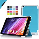 IVSO ASUS Fonepad 8 FE380CG Case- Ultra Lightweight Slim Smart Cover Case -will only fit ASUS Fonepad 8 FE380CG Tablet (Blue)