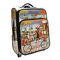 Nicole Lee Cleo21 Inch Expandable Rolling Carry-On, Bicycle, One Size