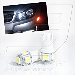 TGP T10 White 5 LED SMD Wedge 5050 Parking Light Bulbs Pair 2005-2012 Scion tC