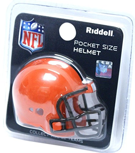 CLEVELAND BROWNS NFL Riddell Revolution POCKET PRO Mini Football Helmet