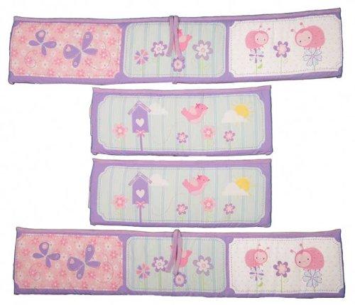 Lavender Butterfly Crib Bedding