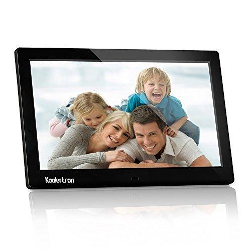 Koolertron- Nouveau 10 pouces Cadre photo numérique 1024x600 HD 16: 9 Widescreen Photo Support Frame SD / MMC / MS / USB