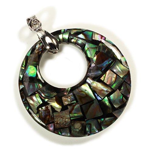 Abalone Mosaic Shell Pendant - (35mm)