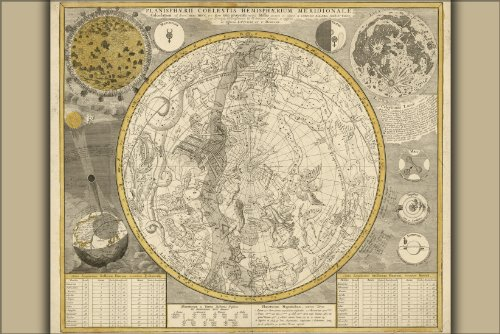 24x36-Poster-Astrology-Zodiac-Constellation-Map-1700-antique-reproduction