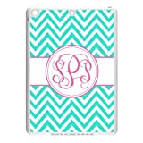 Monogram Personalized Turquoise Chevron Vs Pink Initials Pattern APPLE IPAD AIR PVC Case/Cover New Fashion, Best Gift