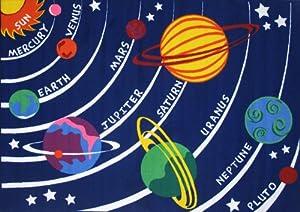 LA Rug Solar System Rug 8'x11' by LA Rug Co