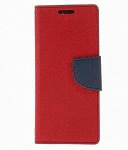Kemerbg Kelpuj Mercury Goospery Wallet Flip Case Cover Made For Lava X5- Red And Blue
