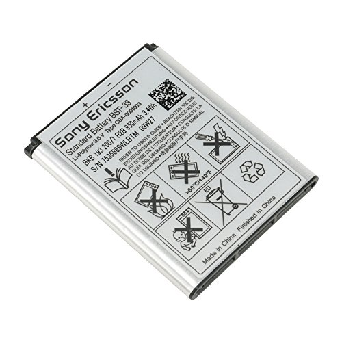 950 mAh 3.6V BST-33 Battery for Sony Ericsson W950 Z610 Z750a Z800i k310 K790a K800c M600i P990i G502
