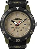 Timex Expedition Men's Quartz Watch with Beige Dial Analogue Display and Black Fabric and Canvas Strap T49833