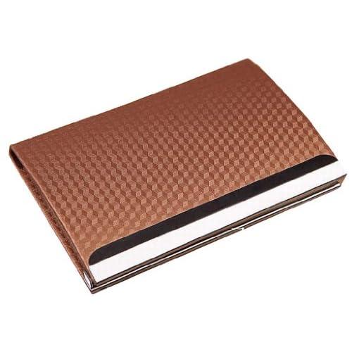 Bastiat 高品質 シンプル 名刺入れ カード ケース 全11色 (ゴールド(キューブ柄))