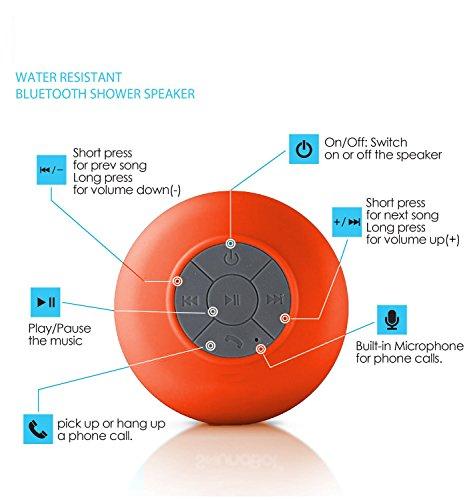 Bluetooth Shower Speaker Camera Class D Verst Rker Mit Bluetooth Trndlabs Bluetooth Key Finder Obd2 Bluetooth Youtube: Finco(TM) HD Water Resistant Bluetooth 3.0 Shower Speaker