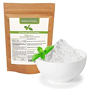 All Natural Stevia Powder - No fillers, Additives or Artificial Ingredients of Any Kind - Highly Concentrated Stevia Extract Sugar Substitute (125g)