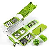 Frokht Kitchens Vegetable And Fruit Chopper, Best Non-Electric And Multi-Purpose Manual Cutter With Set Of 10...