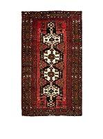 QURAMA Alfombra Persian Hamadan Rojo/Blanco/Negro