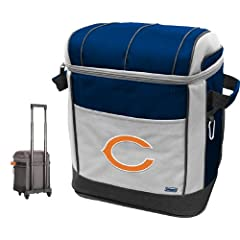 Buy NFL Chicago Bears 50 Can Soft Sided Rolling Coleman Cooler by Licensed Products