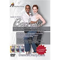 Learn to Dance Bachata, Mastery System, 3 DVD Set: A Step-by-step Guide to Bachata Dancing