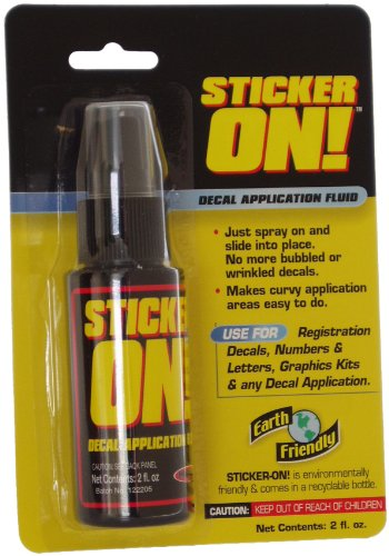 Hardline Products Sticker-On! Decal Application Fluid, 2 Ounces